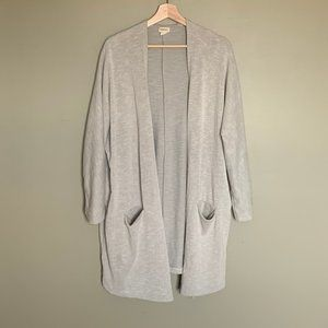 Donni grey long open cardigan duster one size